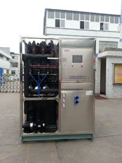 R22 / R404a Refrigerant Industrial Ice Maker Machine , Air Cooled Ice Maker