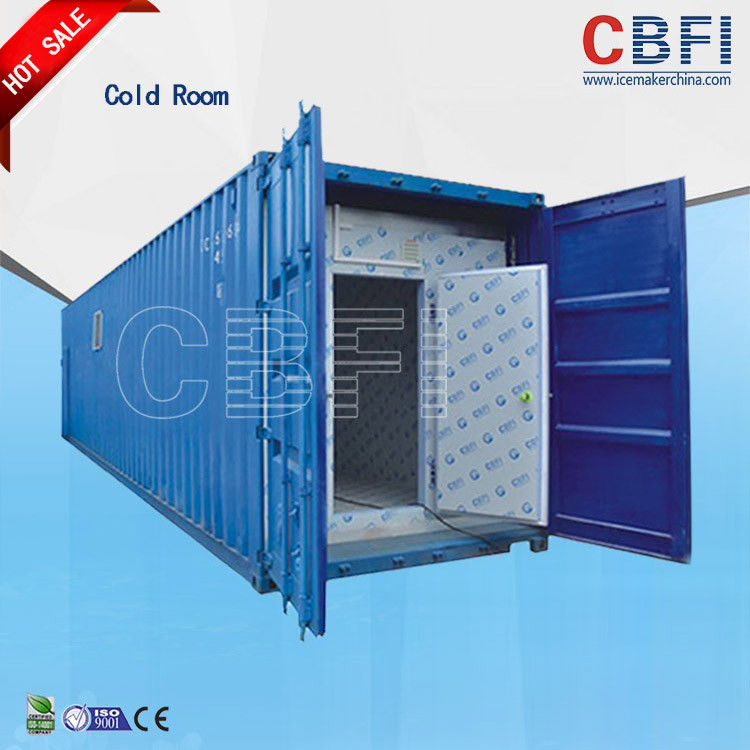 Color Steel Panels Sliding Door Container Cold Room -18 - -25 For Fish And Meat