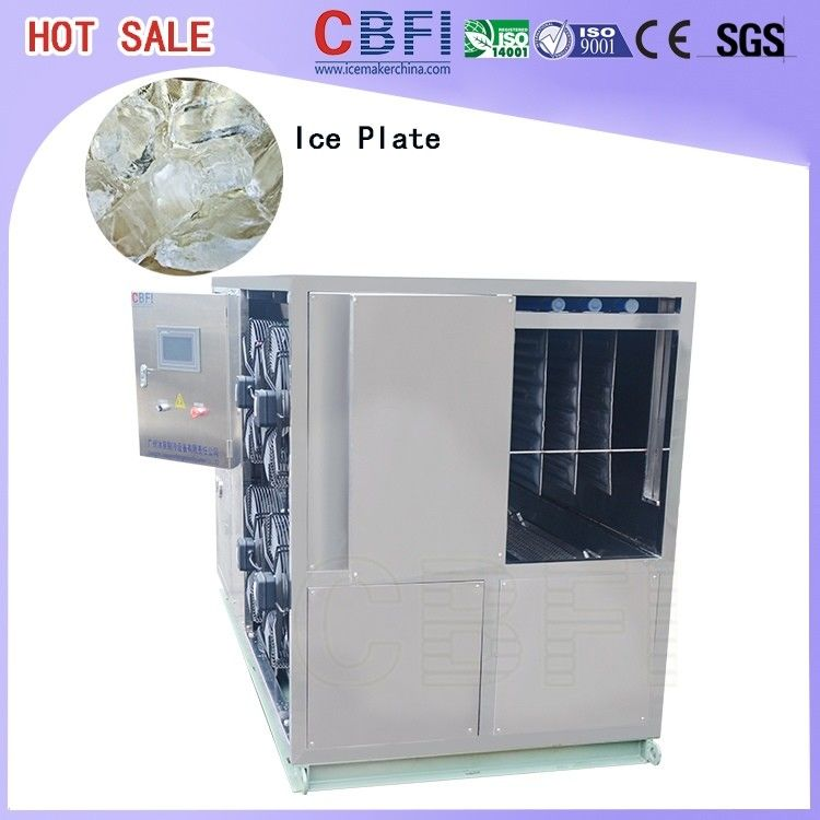 1 Ton To 50 Tons Per Day Plate Ice Maker , Commercial Ice Making Machine For Freezing Seafood nhà cung cấp