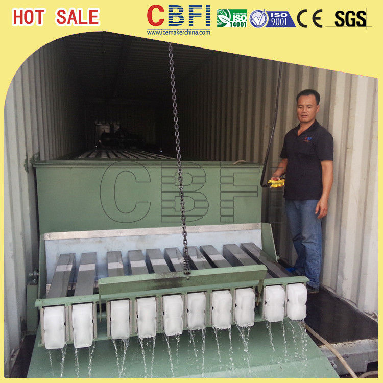 3 Ton Containerized Block Ice Plant , Commercial Ice Block Maker Large Production nhà cung cấp