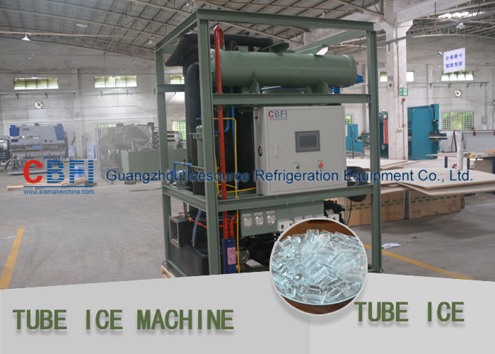 Siemen Control Green Tube Ice Machine Stainless Steel Evaporator / Freon Refrigeration nhà cung cấp