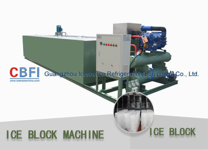 R22 / R404a Refrigerant 5 Ton Per 24 Hrs Ice Block Making Machine For Ice Business nhà cung cấp