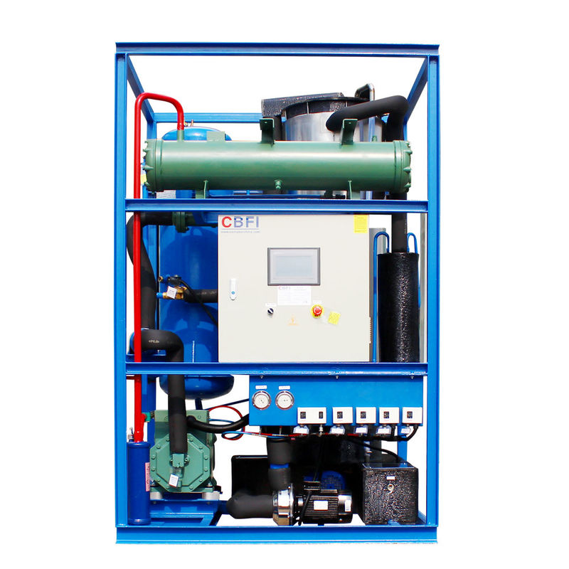 Integrated Design Tube Ice Making Machine R404a Refrigerant 5 Tons Per Day