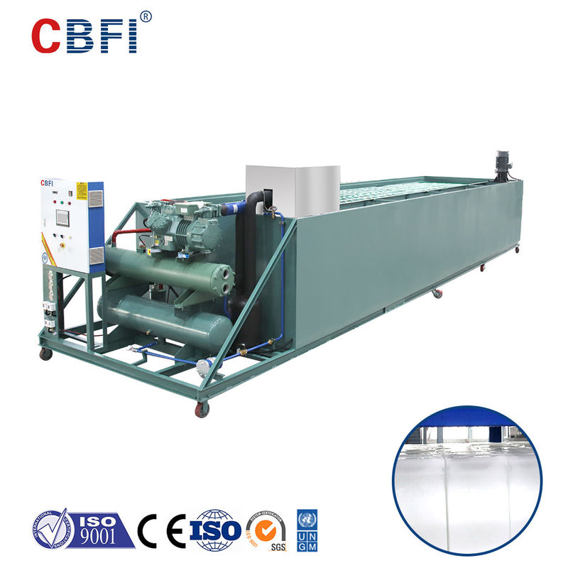 High Productivity Industrial Coil Pipes Brine Ice Block Machines